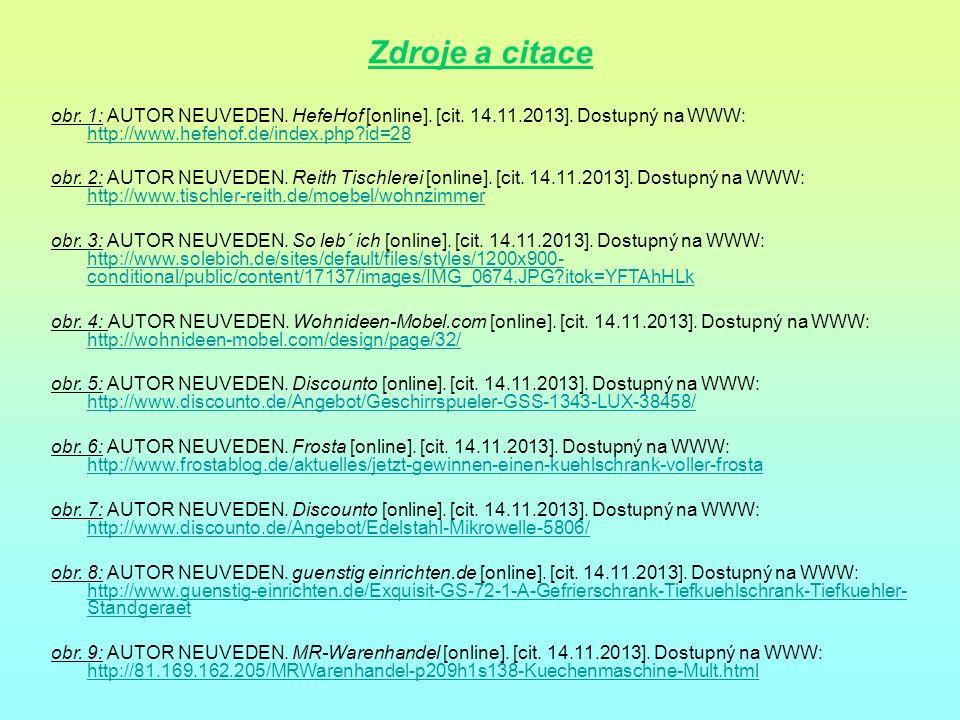 Zdroje a citace obr. 1: AUTOR NEUVEDEN. HefeHof [online]. [cit. 14.11.2013]. Dostupný na WWW: http://www.hefehof.de/index.php id=28.